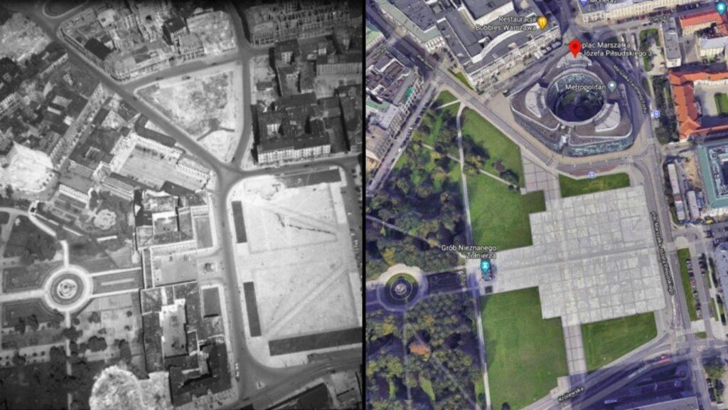 Plac Piłsudskiego kiedyś a dziś