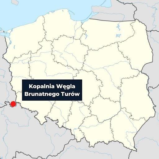 Mapa przedstawiająca lokalizacje Turowa #2